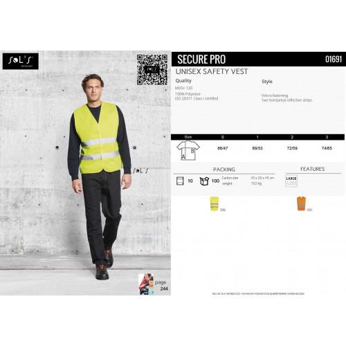 SOL'S SECURE PRO Unisex Safety Vest