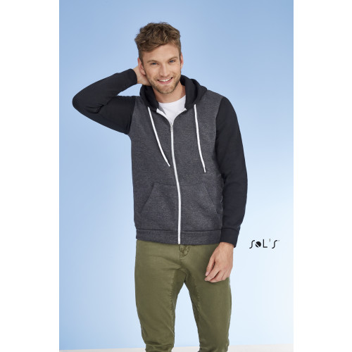 SOL'S SILVER Unisex Hooded Zipped Jacket