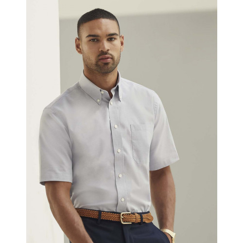 Fruit of the Loom Mens Oxford Short Sleeve