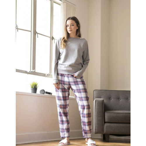 LADIES TARTAN LOUNGE PANTS