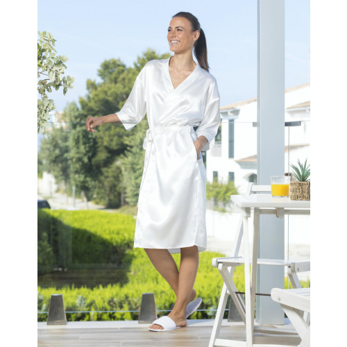 LADIES SATIN ROBE