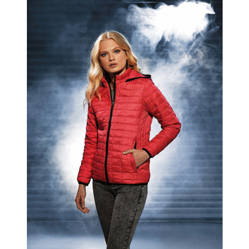 WOMEN HONEYCOMB HOODED JACKET