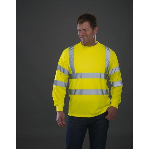 Hi-Vis Zip Neck Sweatshirt