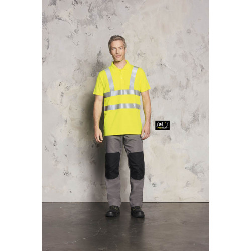 SOL'S SIGNAL PRO Polo shirt with Hi-Vis Strips
