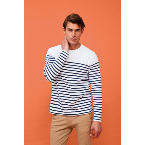 MATELOT MEN'S LONG SLEEVE STRIPED T-SHIRT