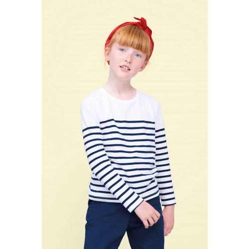 MATELOT KIDS LONG SLEEVE STRIPED T-SHIRT